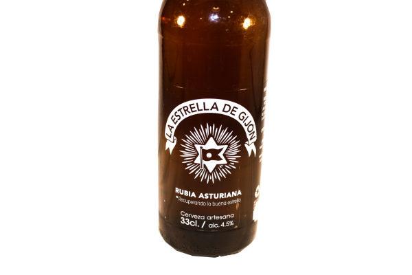 Venta de cerveza rubia artesana La Estrella de Gijón en Pantruque Asturias