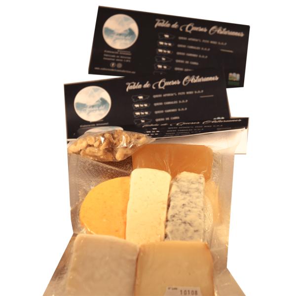 Venta de tabla de quesos asturianos en Gijón, Asturias