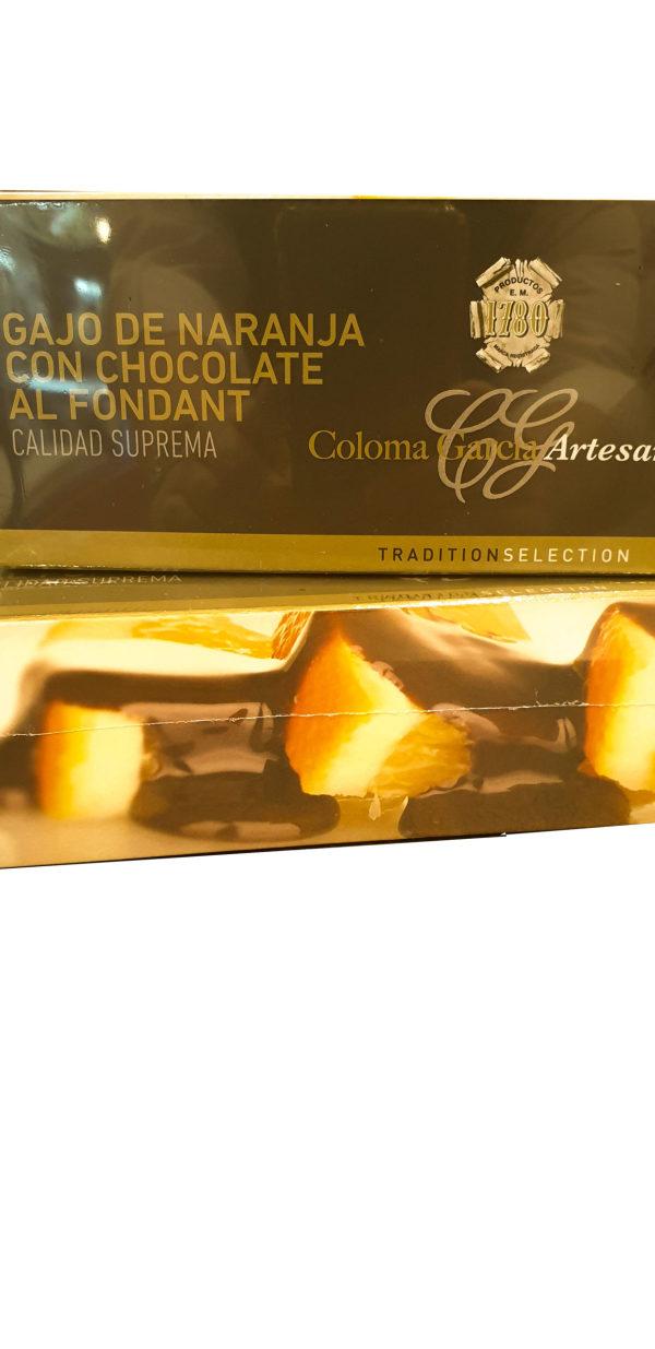 Comprar gajo de naranja con chocolate al fondant coloma garcía en Gijón Asturias